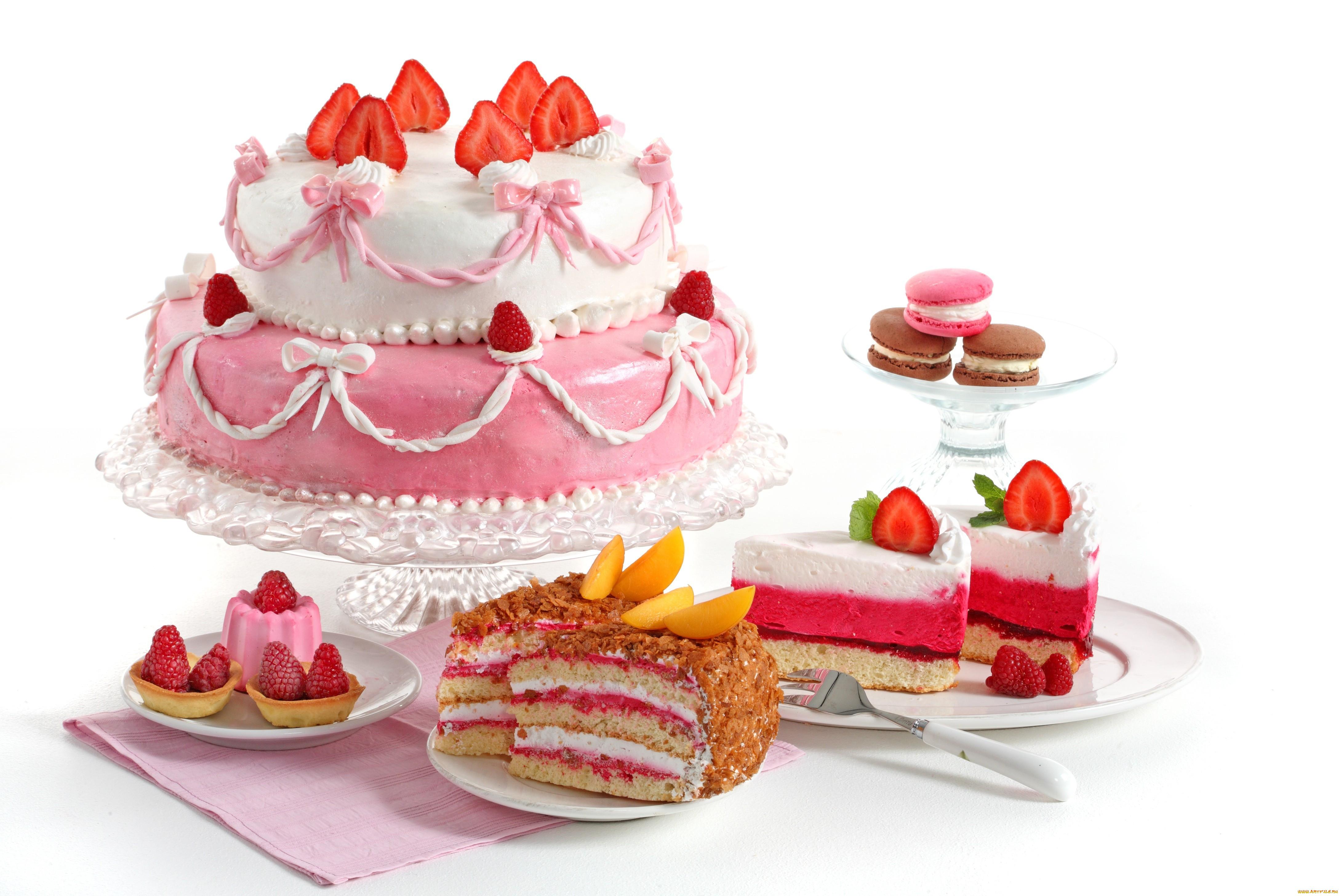 Обои Strawberry, cake, food. Еда foto 17